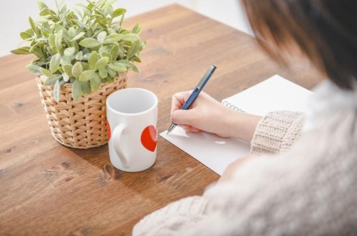 字を書くバイト