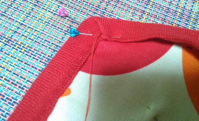 コーナ部分の縫い方