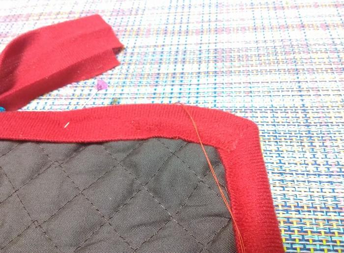 カーブ部分の縫い方