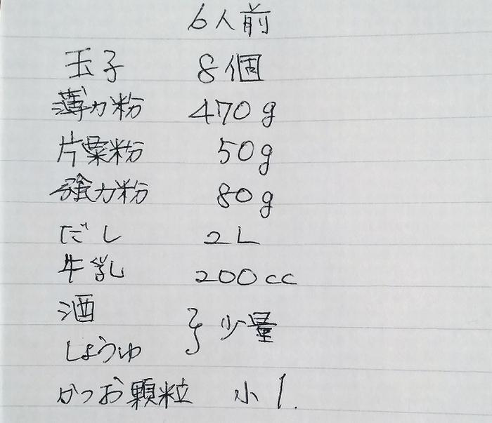 タコパ6人まえレシピ