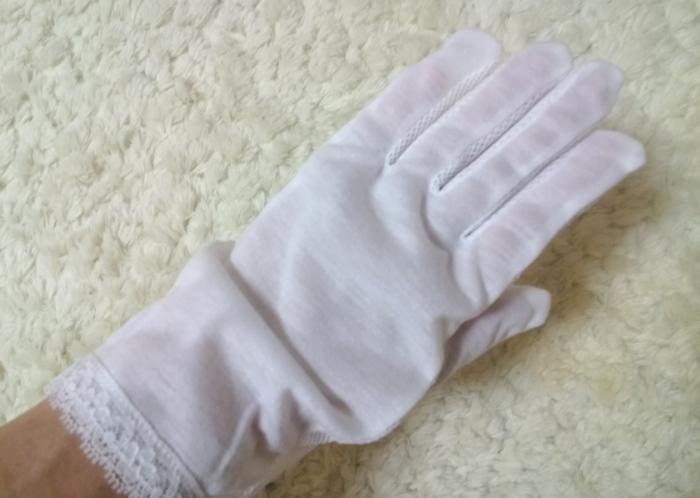 セリアのUV手袋メッシュタイプ表